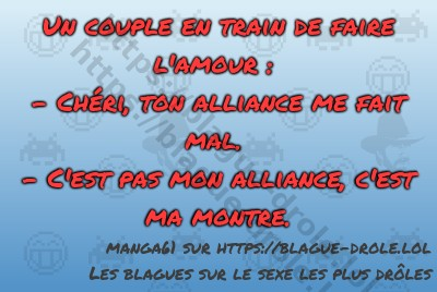 Un couple en train de faire l'amour...