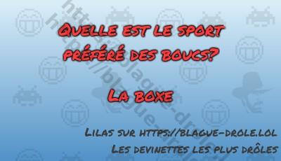 Quelle est le sport préféré des...