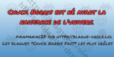Chuck Norris est né avant la naissance...