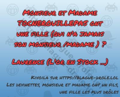 Monsieur et Madame TOCNEROUILLEPAS...