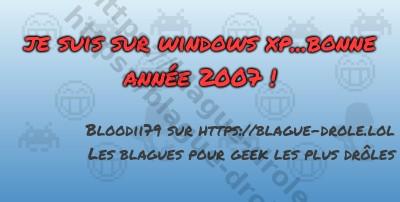 je suis sur windows xp...bonne...