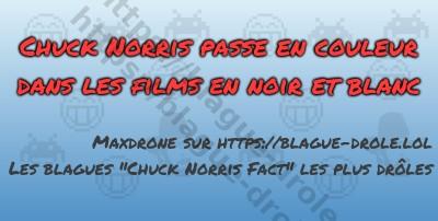 Chuck Norris passeen couleur dans...