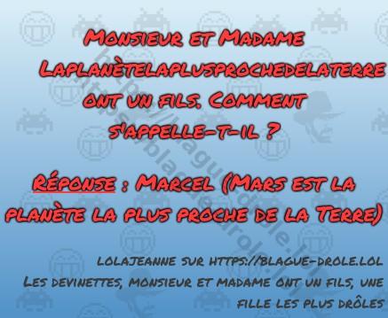 Monsieur et Madame Laplanètelaplusprochedelaterre...
