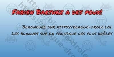 Fabien Barthez a des poux!