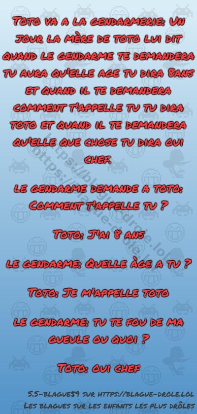 Toto va a la gendarmerie: Un jour...