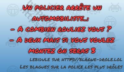 Un policier arrête un automobiliste..:-...