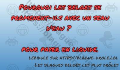 Pourquoi les belges se promenent-ils...