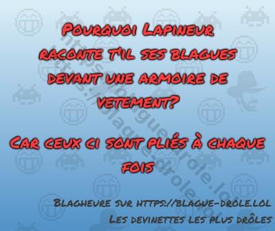 Pourquoi Lapineur raconte t'il...