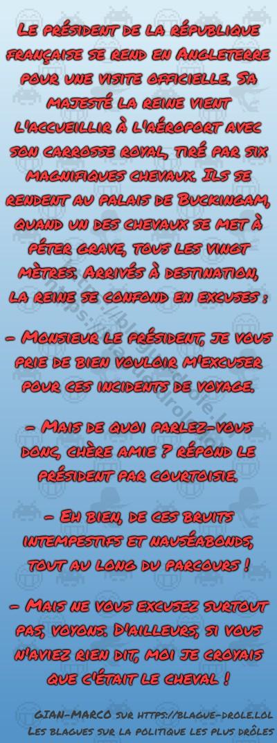 Le président de la république française...