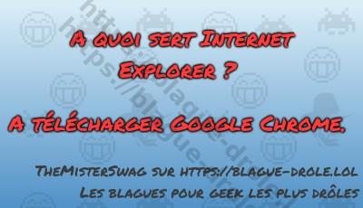 A quoi sert Internet Explorer...