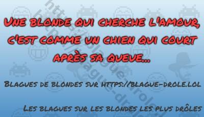 Une blonde qui cherche l'amour,...